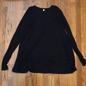 Free people ribbed black long sleeve tunic